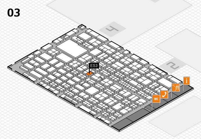 MEDICA 2016 hall map (Hall 3): stand E53