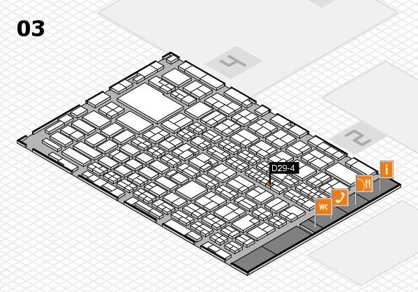 MEDICA 2016 hall map (Hall 3): stand D29-4