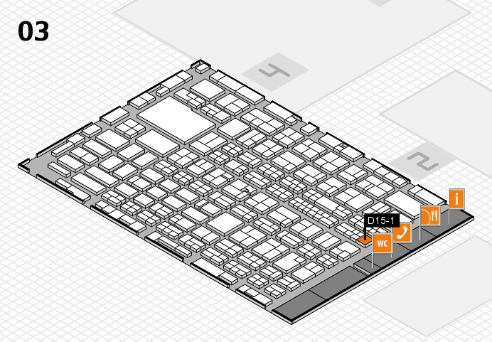 MEDICA 2016 hall map (Hall 3): stand D15-1