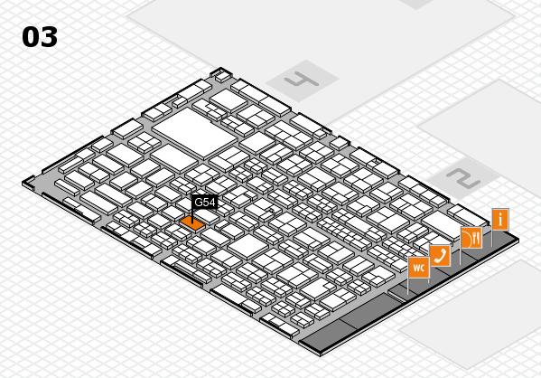MEDICA 2016 hall map (Hall 3): stand G54