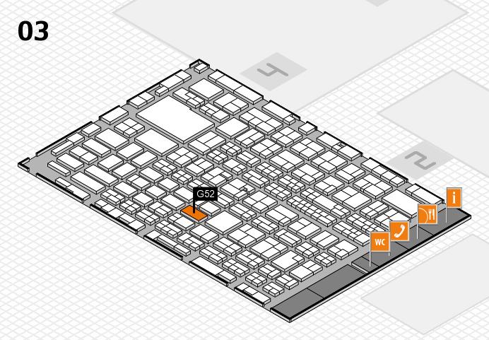 MEDICA 2016 hall map (Hall 3): stand G52