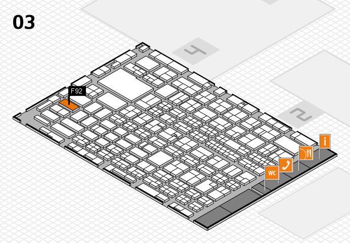 MEDICA 2016 hall map (Hall 3): stand F92