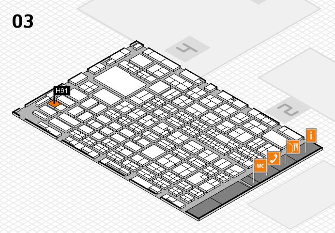 MEDICA 2016 hall map (Hall 3): stand H91