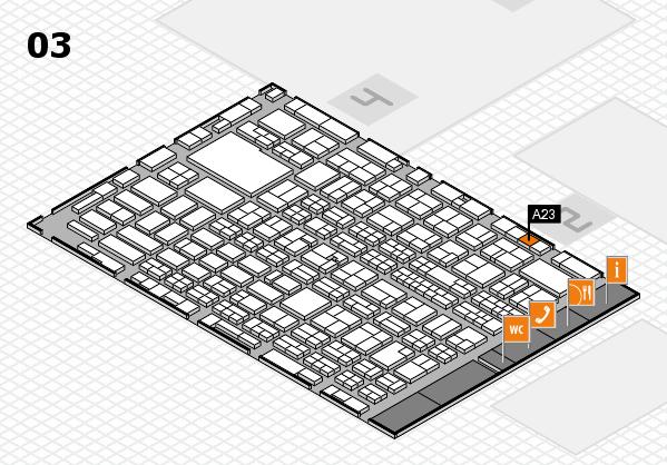 MEDICA 2016 hall map (Hall 3): stand A23