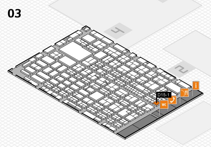 MEDICA 2016 hall map (Hall 3): stand D15-1