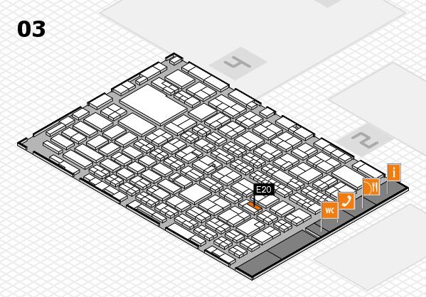 MEDICA 2016 hall map (Hall 3): stand E20