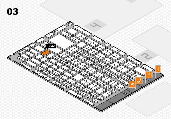 MEDICA 2016 hall map (Hall 3): stand E74A