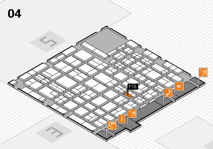 MEDICA 2016 hall map (Hall 4): stand F15
