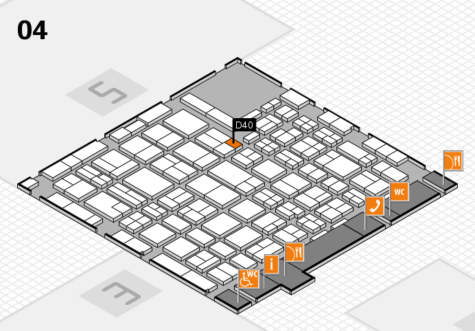 MEDICA 2016 hall map (Hall 4): stand D40