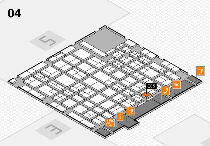 MEDICA 2016 hall map (Hall 4): stand E05