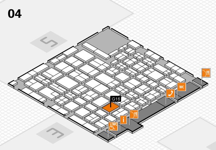 MEDICA 2016 hall map (Hall 4): stand G16