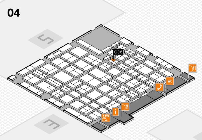 MEDICA 2016 hall map (Hall 4): stand C36