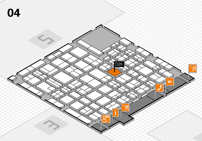 MEDICA 2016 hall map (Hall 4): stand D26
