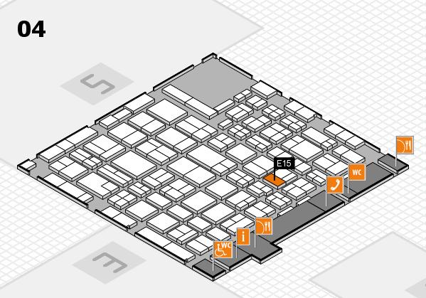 MEDICA 2016 hall map (Hall 4): stand E15