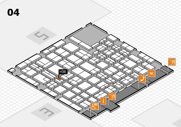 MEDICA 2016 hall map (Hall 4): stand H38