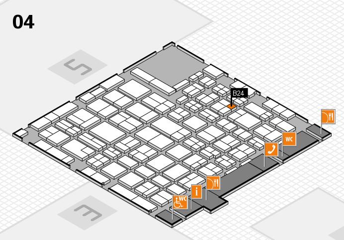 MEDICA 2016 hall map (Hall 4): stand B24