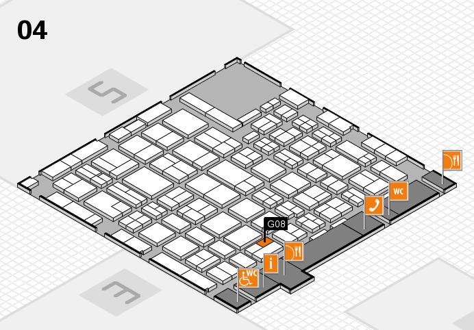 MEDICA 2016 hall map (Hall 4): stand G08