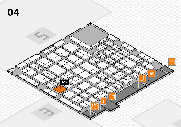 MEDICA 2016 hall map (Hall 4): stand J26