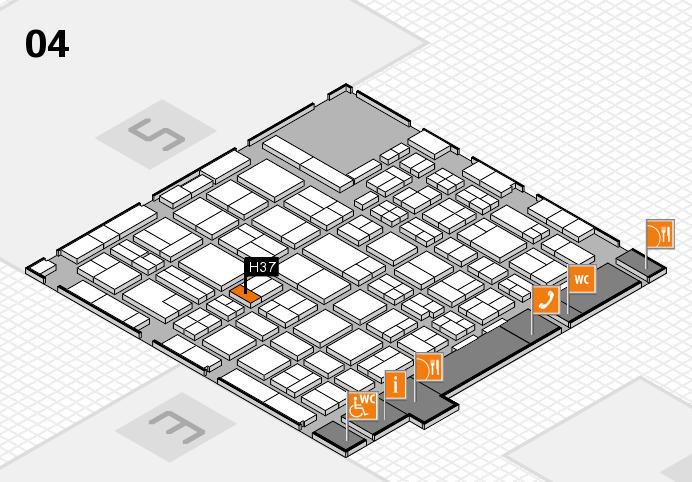 MEDICA 2016 hall map (Hall 4): stand H37