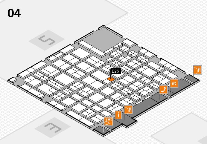 MEDICA 2016 hall map (Hall 4): stand E26