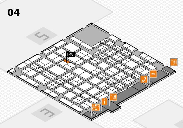 MEDICA 2016 hall map (Hall 4): stand F48