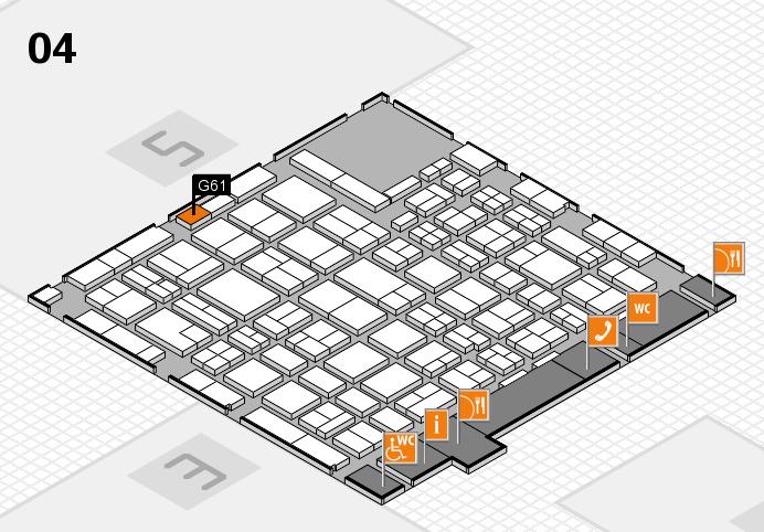 MEDICA 2016 hall map (Hall 4): stand G61