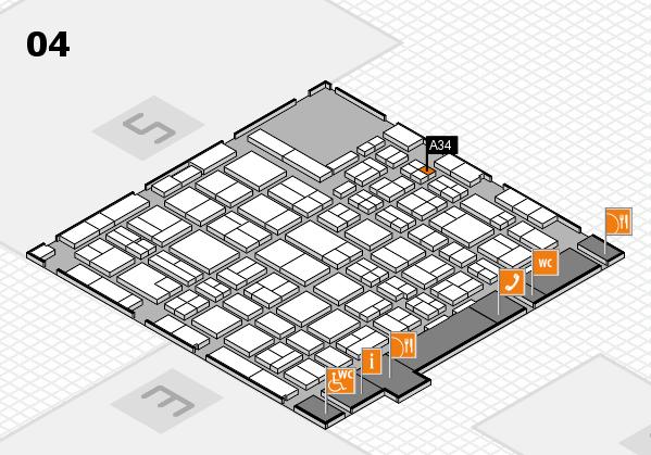 MEDICA 2016 hall map (Hall 4): stand A34