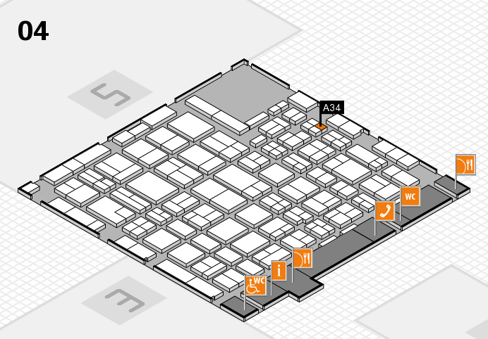 MEDICA 2016 hall map (Hall 4): stand A34