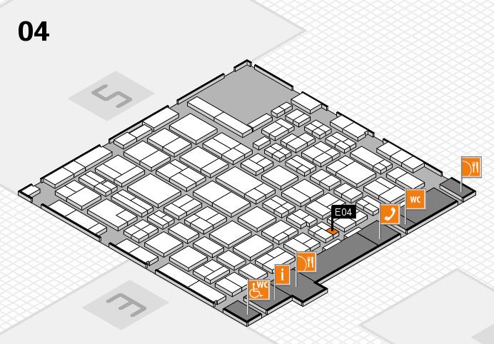MEDICA 2016 hall map (Hall 4): stand E04