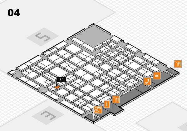 MEDICA 2016 hall map (Hall 4): stand J34