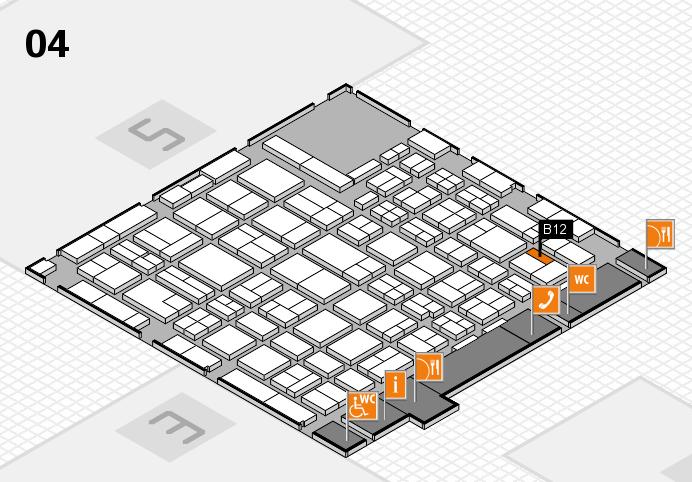 MEDICA 2016 hall map (Hall 4): stand B12