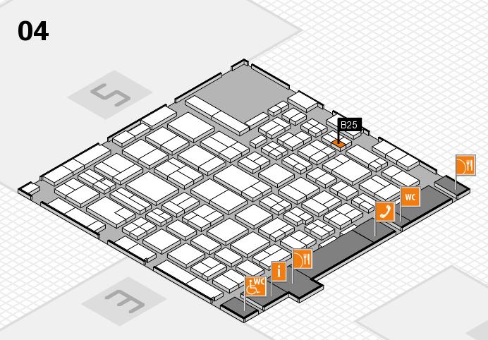 MEDICA 2016 hall map (Hall 4): stand B25