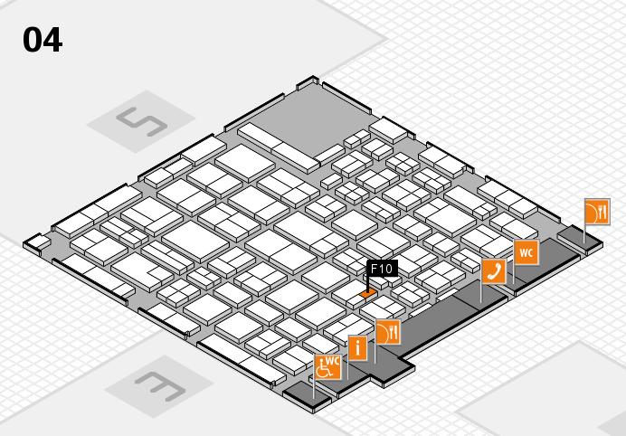 MEDICA 2016 hall map (Hall 4): stand F10