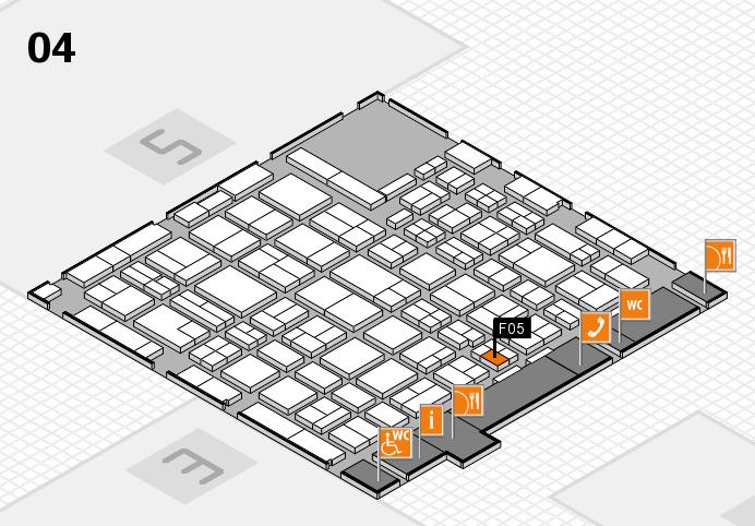 MEDICA 2016 hall map (Hall 4): stand F05