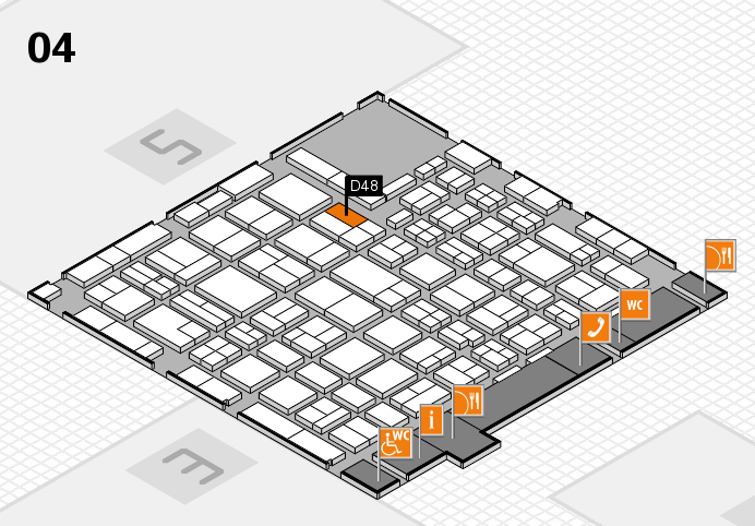 MEDICA 2016 hall map (Hall 4): stand D48