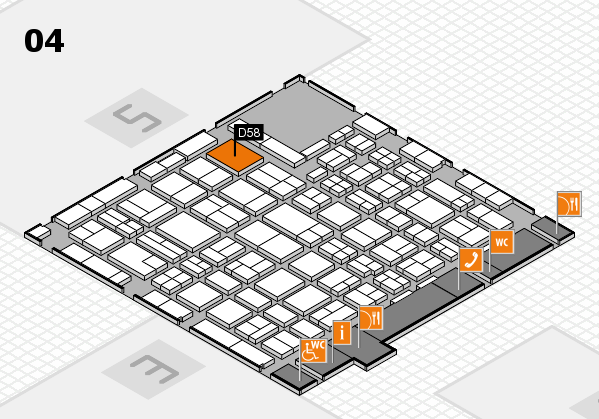 MEDICA 2016 hall map (Hall 4): stand D58