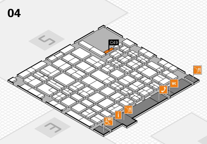 MEDICA 2016 hall map (Hall 4): stand C49