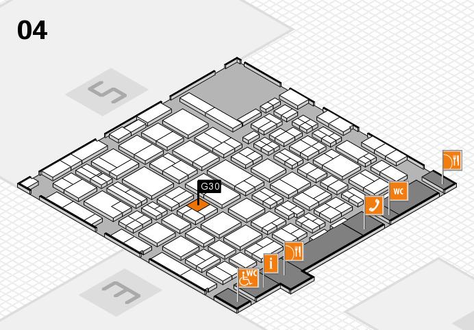 MEDICA 2016 hall map (Hall 4): stand G30