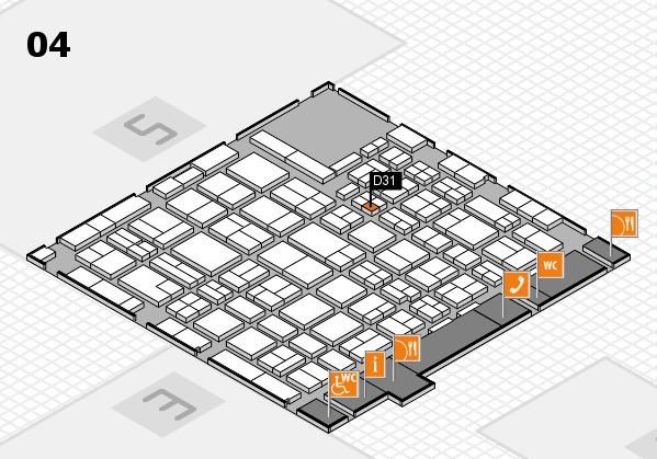 MEDICA 2016 hall map (Hall 4): stand D31