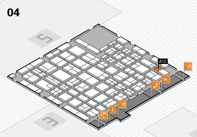 MEDICA 2016 hall map (Hall 4): stand A12