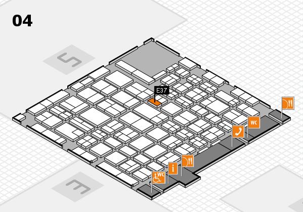 MEDICA 2016 hall map (Hall 4): stand E37