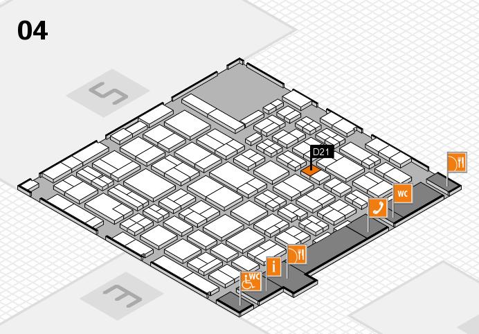 MEDICA 2016 hall map (Hall 4): stand D21