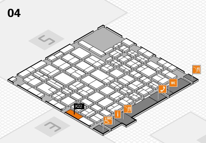 MEDICA 2016 hall map (Hall 4): stand K22