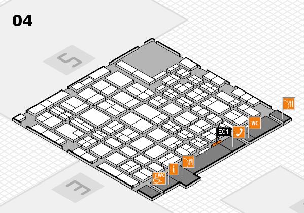MEDICA 2016 hall map (Hall 4): stand E01