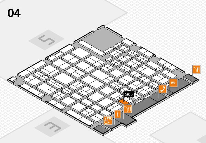 MEDICA 2016 hall map (Hall 4): stand G05