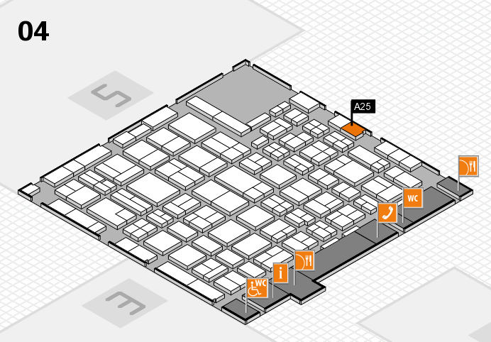 MEDICA 2016 hall map (Hall 4): stand A25