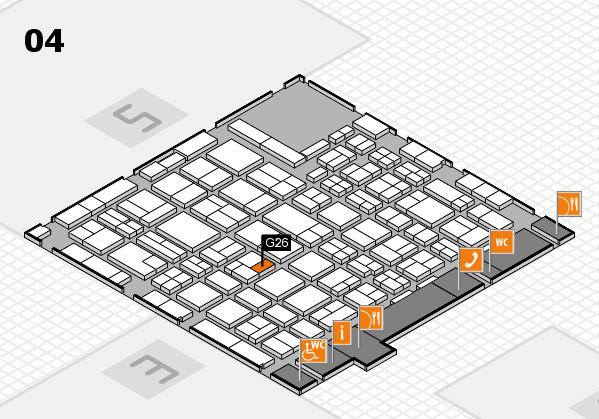 MEDICA 2016 hall map (Hall 4): stand G26