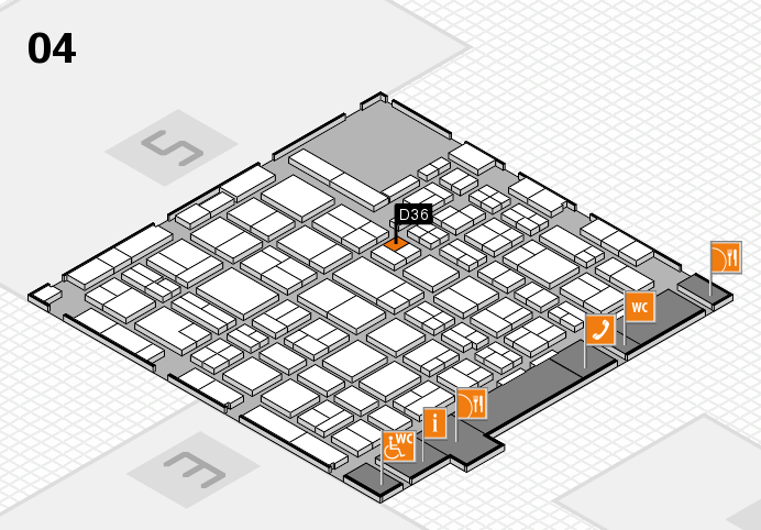 MEDICA 2016 hall map (Hall 4): stand D36