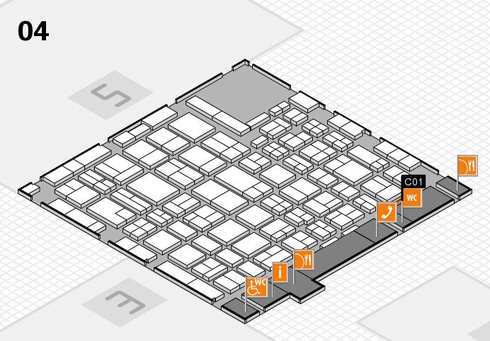 MEDICA 2016 hall map (Hall 4): stand C01