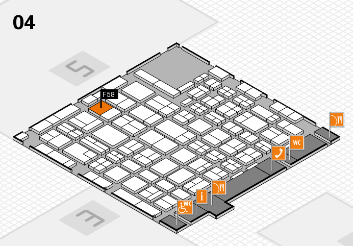 MEDICA 2016 hall map (Hall 4): stand F58